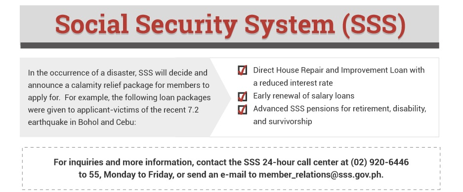SSS Benefits You Can Take Advantage of When Under State of Calamity - SSS  Guides