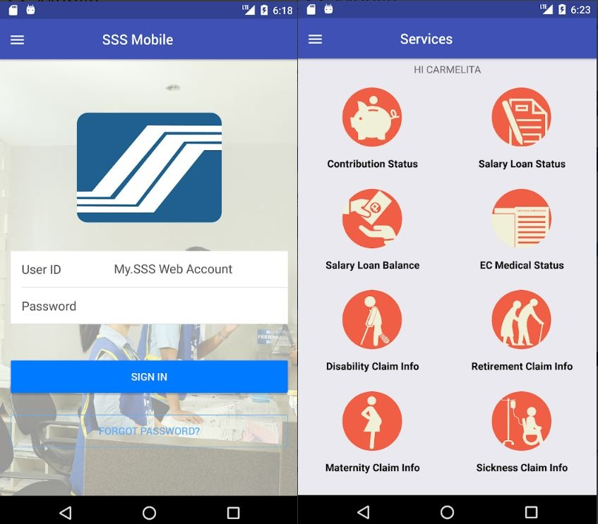 SSS now has Mobile Application Availble in Google Play Store and Apple App Store